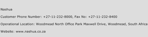 Nashua Phone Number Customer Service