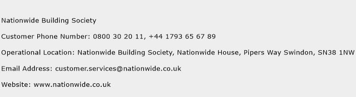 NationWide Building Society Phone Number Customer Service