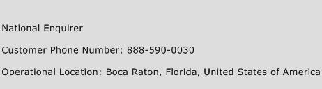 National Enquirer Phone Number Customer Service