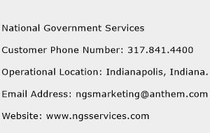 National Government Services Phone Number Customer Service