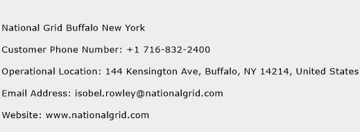 National Grid Buffalo New York Phone Number Customer Service