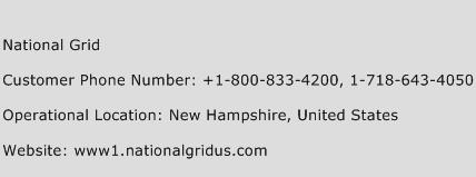 National Grid Phone Number Customer Service