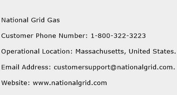 National Grid Gas Phone Number Customer Service
