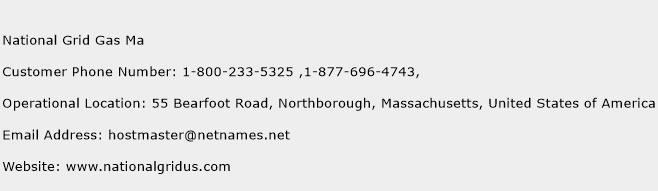 National Grid Gas Ma Phone Number Customer Service