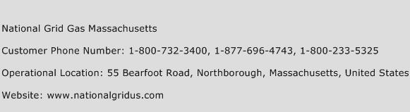 National Grid Gas Massachusetts Phone Number Customer Service