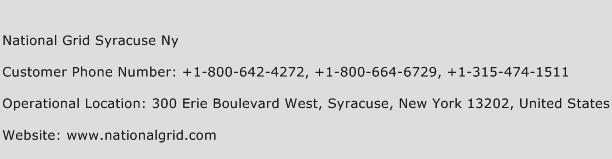National Grid Syracuse Ny Phone Number Customer Service