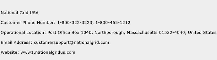 National Grid USA Phone Number Customer Service