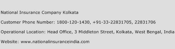 National Insurance Company Kolkata Phone Number Customer Service