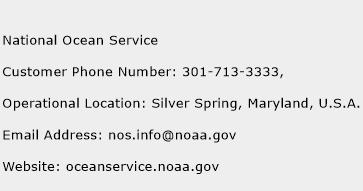 National Ocean Service Phone Number Customer Service