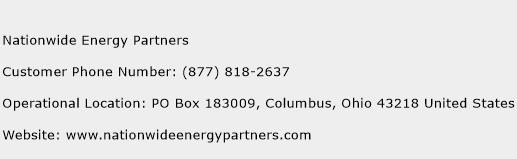 Nationwide Energy Partners Phone Number Customer Service