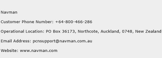 Navman Phone Number Customer Service