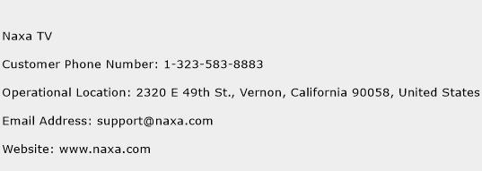 Naxa TV Phone Number Customer Service