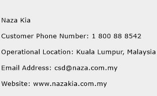 Naza Kia Phone Number Customer Service
