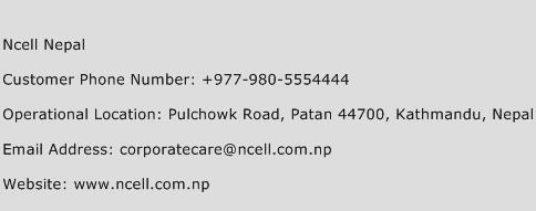 Ncell Nepal Phone Number Customer Service