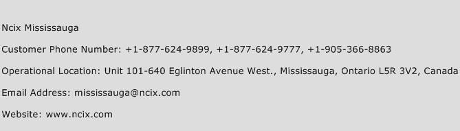 Ncix Mississauga Phone Number Customer Service