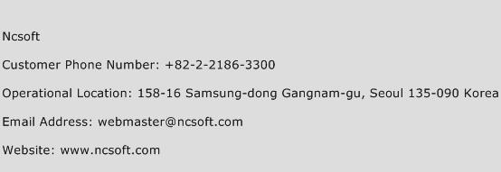 Ncsoft Phone Number Customer Service