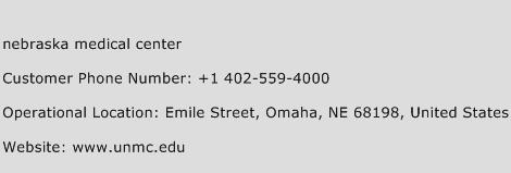 Nebraska Medical Center Phone Number Customer Service