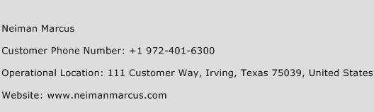 Neiman Marcus Phone Number Customer Service