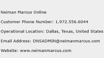 Neiman Marcus Online Phone Number Customer Service