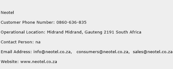 Neotel Phone Number Customer Service