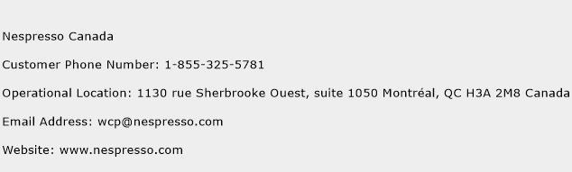 Nespresso Canada Phone Number Customer Service