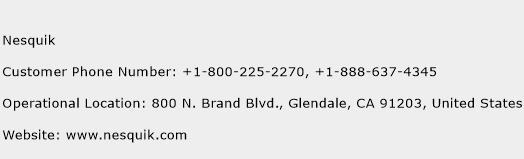 Nesquik Phone Number Customer Service