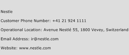 Nestle Phone Number Customer Service