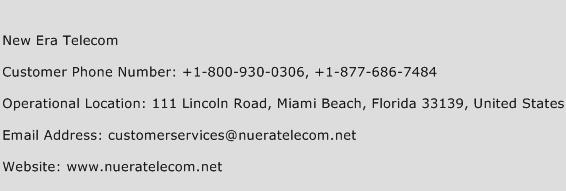 New Era Telecom Phone Number Customer Service