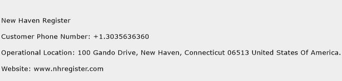 New Haven Register Phone Number Customer Service