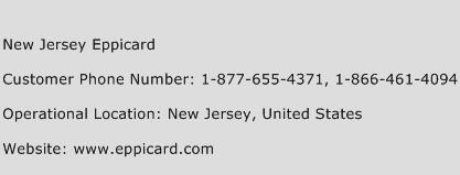 New Jersey Eppicard Phone Number Customer Service