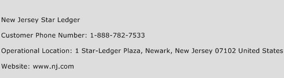 New Jersey Star Ledger Phone Number Customer Service