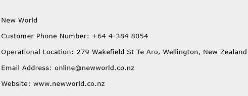New World Phone Number Customer Service