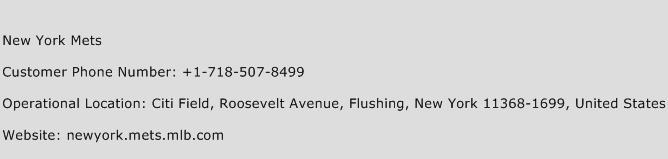 New York Mets Phone Number Customer Service