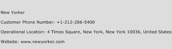 New Yorker Phone Number Customer Service