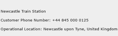 Newcastle Train Station Phone Number Customer Service