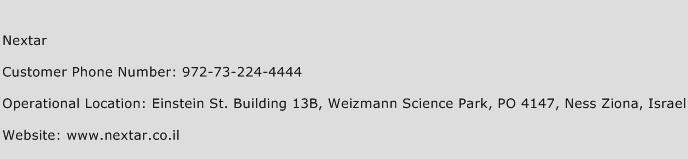 Nextar Phone Number Customer Service