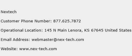 Nextech Phone Number Customer Service