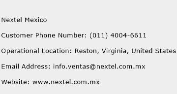 nextel costumer service