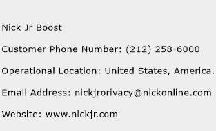 Nick Jr Boost Phone Number Customer Service