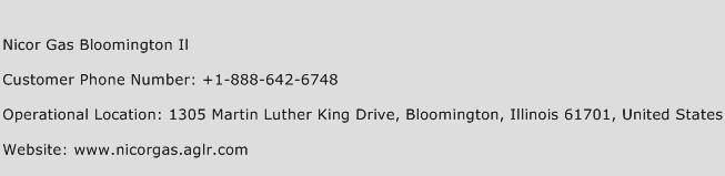 Nicor Gas Bloomington IL Phone Number Customer Service