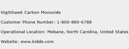 Nighthawk Carbon Monoxide Phone Number Customer Service