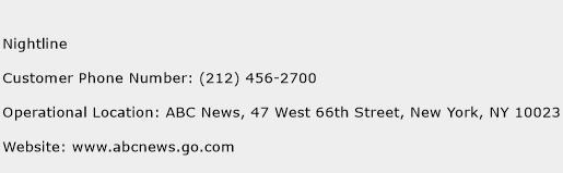 Nightline Phone Number Customer Service