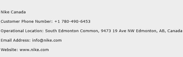 Nike Canada Phone Number Customer Service