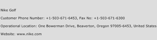 Nike Golf Phone Number Customer Service