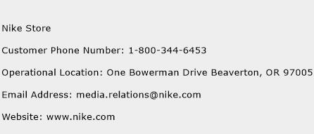 Nike Store Phone Number Customer Service