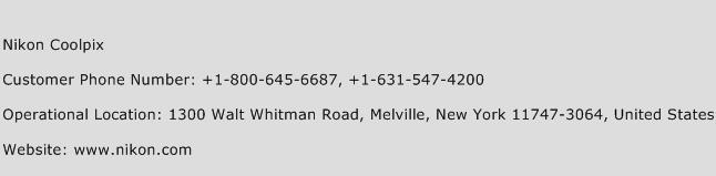 Nikon Coolpix Phone Number Customer Service