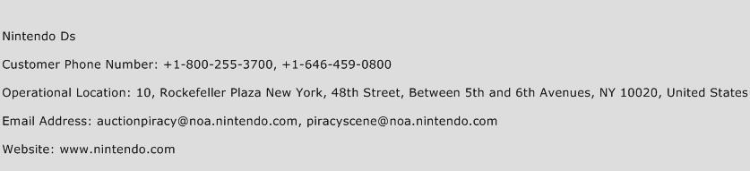 Nintendo Ds Phone Number Customer Service