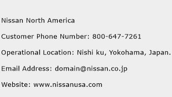 Nissan North America Phone Number Customer Service