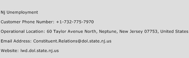 Nj Unemployment Phone Number Customer Service