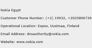 Nokia Egypt Phone Number Customer Service